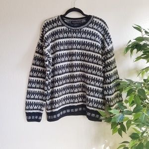 Vintage Wool Knit Chunky Grandpa Sweater